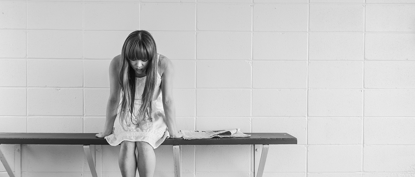 Sad worried woman with borderline personality disorder (bpd)
