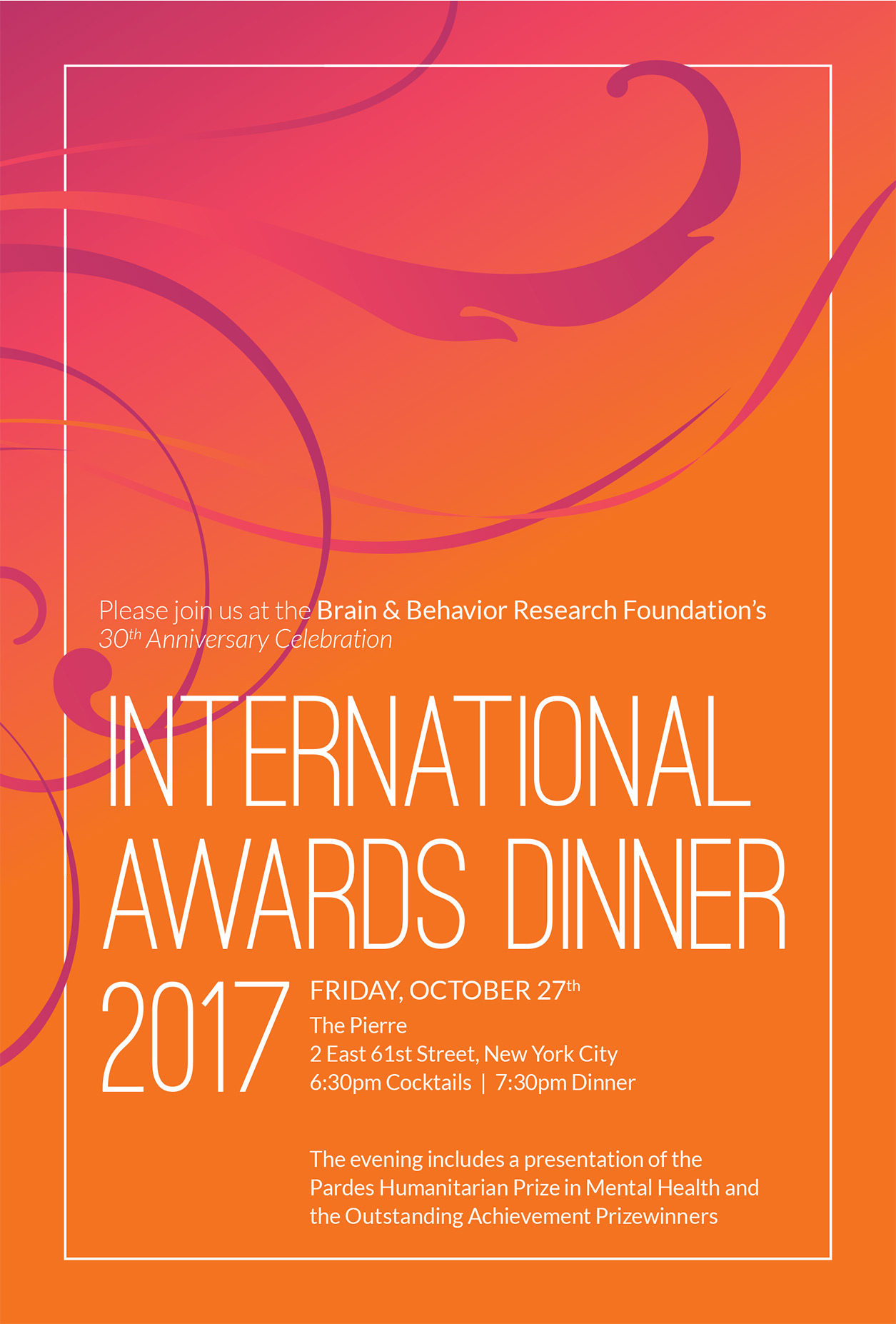 International Awards Dinner Journal Cover