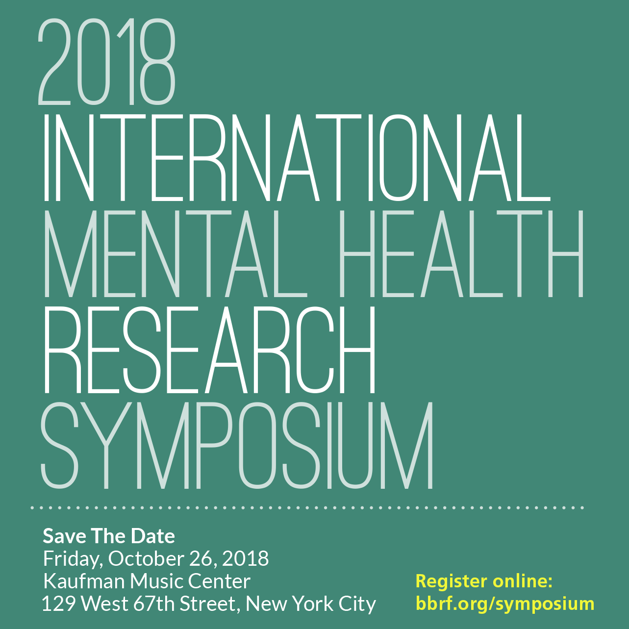 2018 International Mental Health Research Symposium | Brain